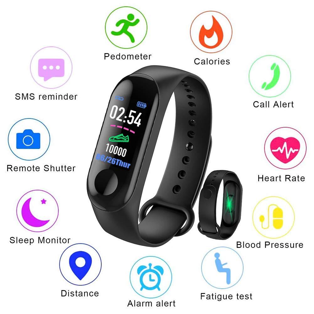 LIGE Smart Fitness Tracker,0,96 pollici Schermo a colori,Cardiofrequenzimetro Orologio intelligente,IP67 impermeabile orologio sportivo con contapassi,Contacalorie,Monitoraggio del sonno,Uomini, donne, bambini Braccialetto intelligente
