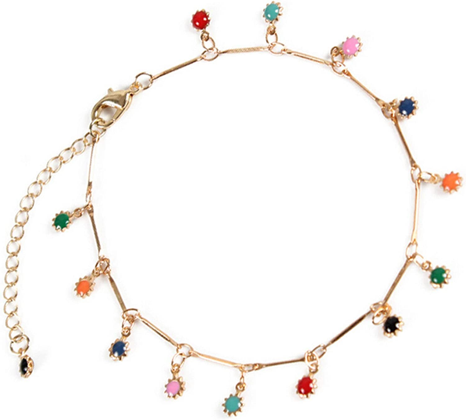 Aokarry Anklet for Womens Alloy Flower Foot Jewelry Anklet Bracelet