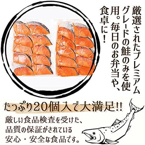 銀鮭の切り身 プレミアムグレード 無塩 お弁当サイズ(約800g(約40g×20切れ))