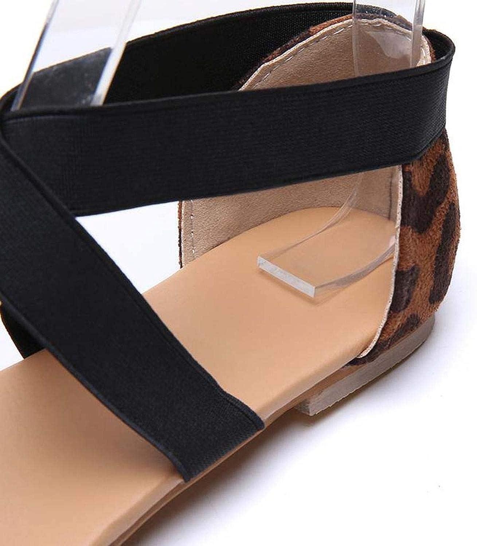 Women Flat Shoes Leopard Print Fashion Pointed Toe Flat Casual Flat Single Shoes Zapatos de Tacon Plataforma#3,Black,8.5