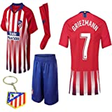 d4eb8515f96 Atletico Madrid La Liga 2018 19 Replica Antonio Griezmann Kid Jersey Kit    Shirt