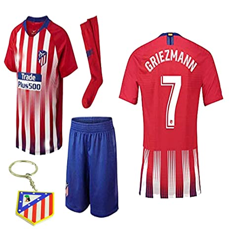 0dd2639af Atletico Madrid La Liga 2018 19 Replica Antonio Griezmann Kid Jersey Kit    Shirt