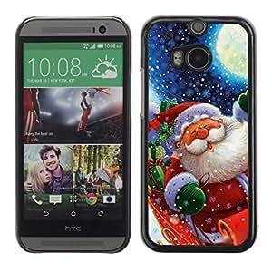 YOYO Slim PC / Aluminium Case Cover Armor Shell Portection //Christmas Holiday Santa Claus Holiday 1046 //HTC One M8