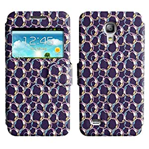 AADes Scratchproof PU Leather Flip Stand Case Samsung Galaxy S4 MINI ( Pretty Bubbles )