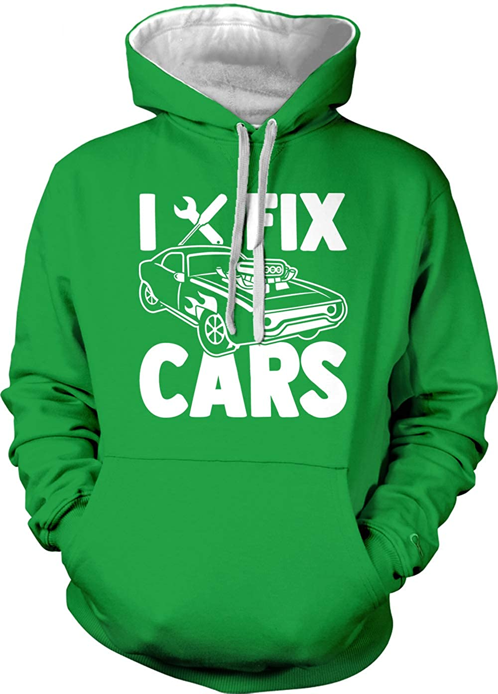 I Fix Cars Adult Two Tone Hoodie Sweatshirt