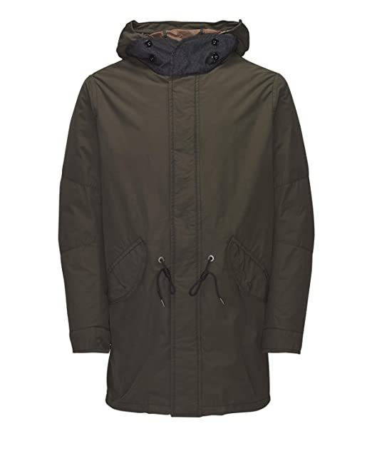 suuri alennus parhaat lenkkarit ostaa JACK & JONES VINTAGE Men's JJVBLAKE FISHTALE PARKA AUW Coat ...