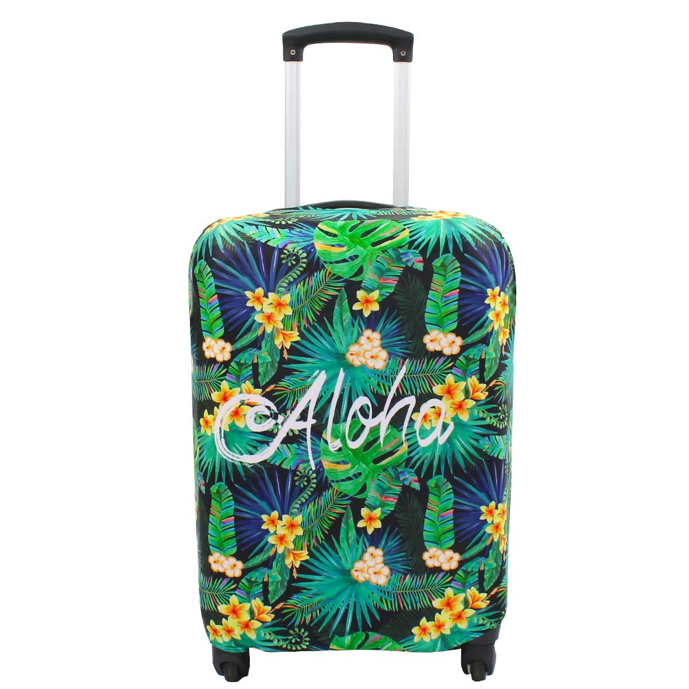 Explore Land Travel Luggage Cover Suitcase Protector Fits 18-32 Inch Luggage (Aloha, M(23-26 inch luggage))