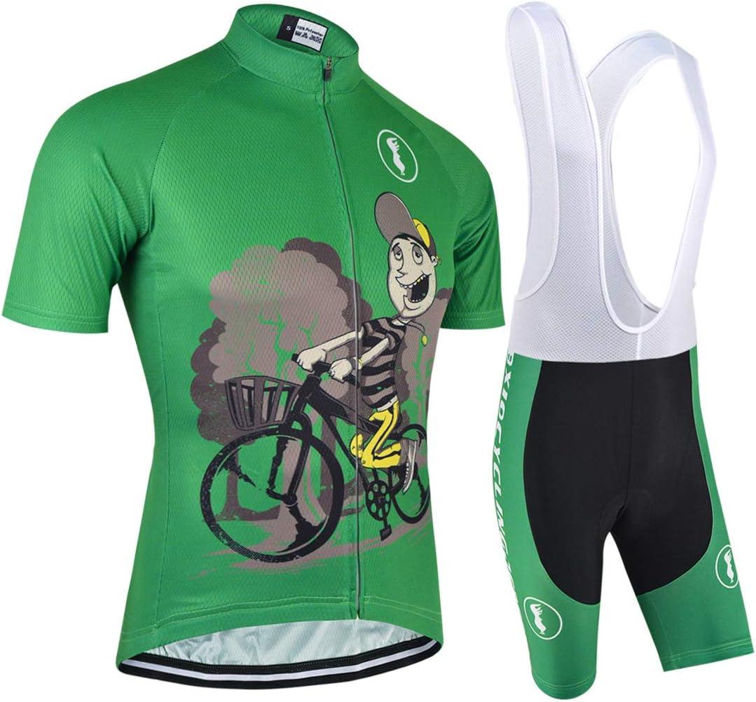 BXIO V/êtements de Cyclisme pour Hommes et Femmes Witner V/êtements de Cyclisme Cuissard /à Bretelles Long et Manches Longues