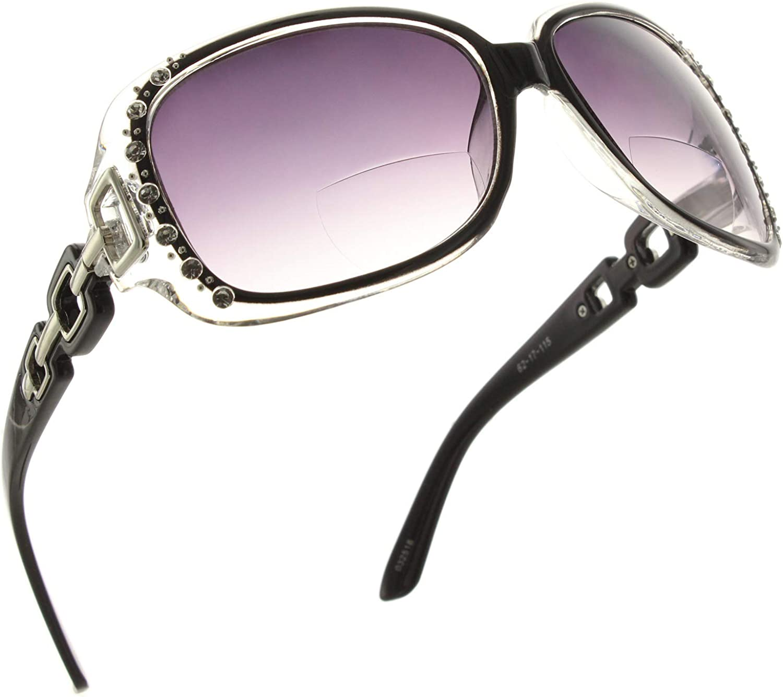 Fiore Rhinestone Bifocal Reading Sunglasses Readers for Women