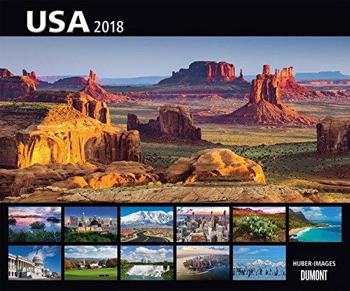 USA 2018 – Wandkalender 58,4 x 48,5 cm – Spiralbindung