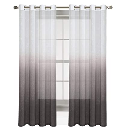 Amazon Com H Versailtex Taupe Gray Curtains Natural Linen Mixed