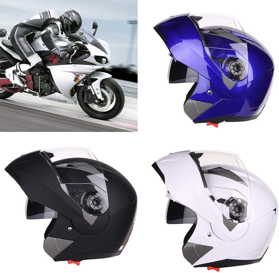 iBellete Casco da Motocross per Fuori-Strada - JIEKAI Casco Moto per Crash modulari/Open Face/Alta Sicurezza/Casco Moto da Corsa/con Visiera Parasole/Anti-Nebbia Blu