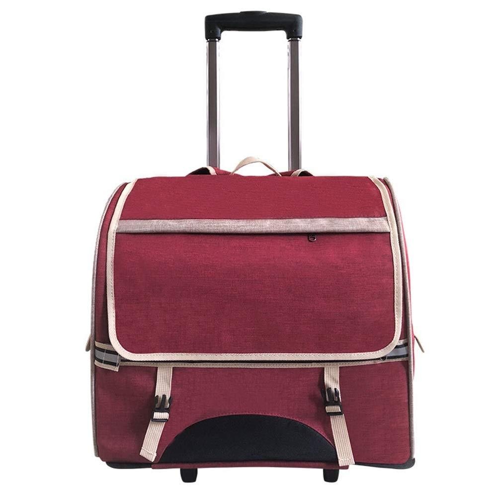 B Byx- Pet Bag Pet Trolley Case Cat Bag Dog Out Trolley Bag Cat Portable Backpack Backpack CageDog Backpack (color   B)