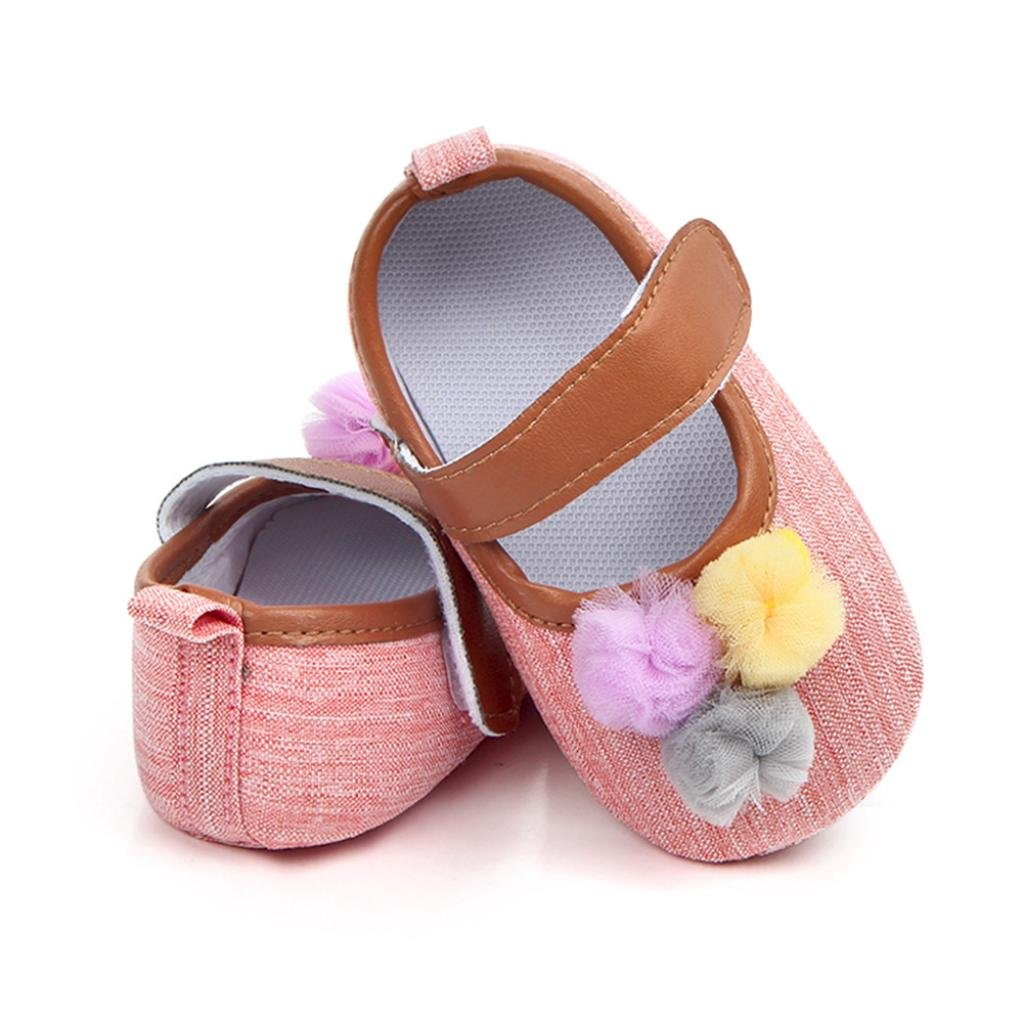 Moonker Baby Shoes,Newborn Infant Boy Girl Ball Solid Canvas Shoes Prewalker Anti-Slip First Walking Sneaker 0-12Month