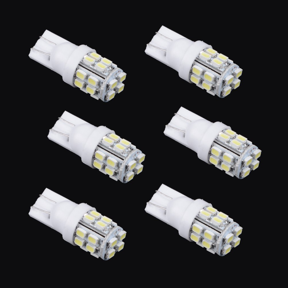 6 pcs 6000K White 20 SMD 168 194 2825 912 921 T10 W5W LED Bulbs For Backup Reverse Parking Position or Interior Light LED Light