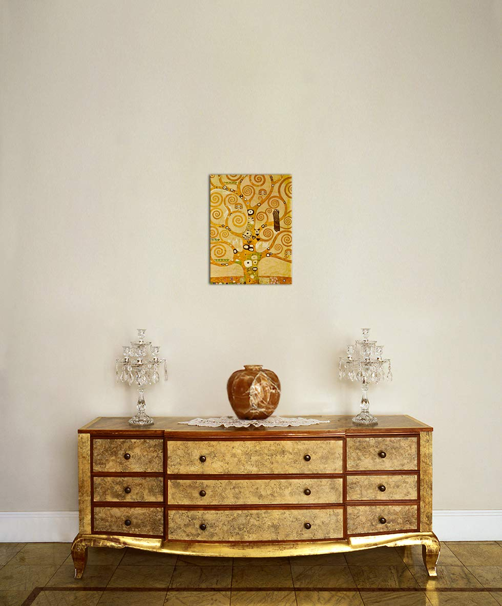 Wandbild Gustav Klimt - Lebensbaum 60x80cm - Wandbild Wandbild Wandbild Alte Meister Bild auf Leinwand Gemälde B07NBLN6YW Leinwanddrucke c3cf3b