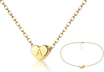 14K Solid Yellow Gold Key To My Heart Pendant Love Necklace Charm Women Girls