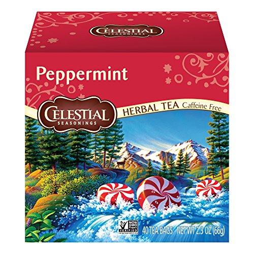 Celestial Seasonings Herbal Tea, Peppermint, 40 Count ()