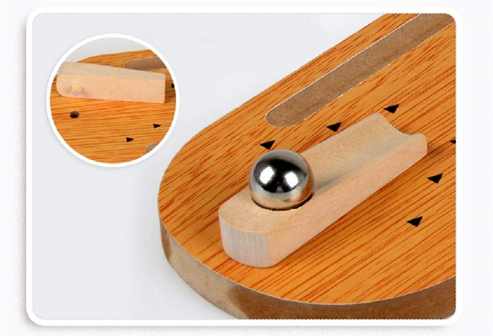 Vi.yo Mini Juego de Bolos de Madera con Juego de Mesa de Bolos Lane 10 Regalos de Bolos de Bolos para ni/ños y Adultos