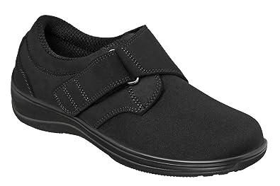 b809e9f5b5 Orthofeet Wichita Women's Comfort Stretchable Orthopedic Orthotic Diabetic  Shoes Black Synthetic 5 ...