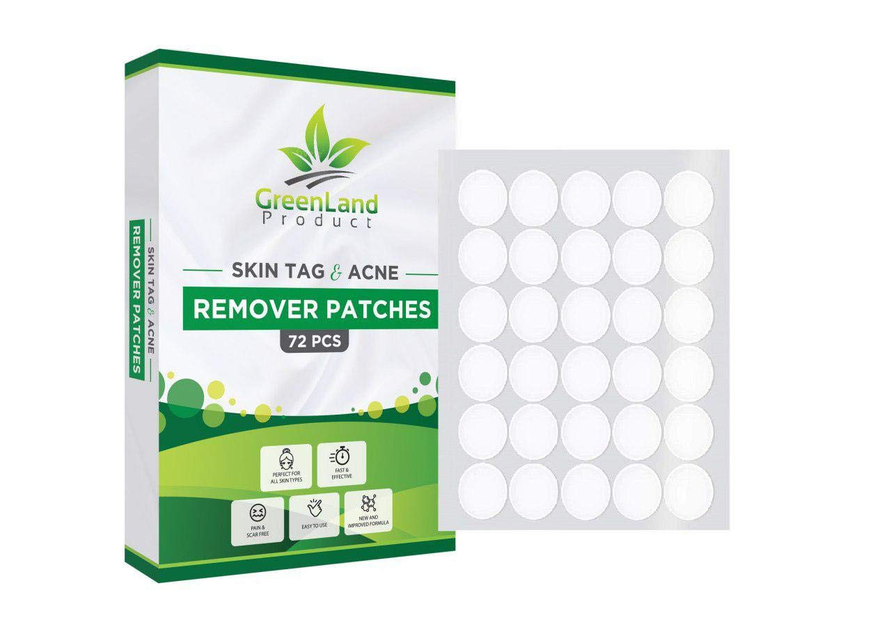 Amazon Com Skin Tag And Acne Remover Patches 72 Pcs Natrual