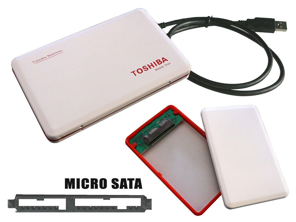 Caja de disco duro SSD MicroSATA - 1,8 brillante de Metal color ...