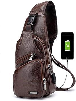 Charminer Bolso Messenger con USB Recargable, Bolso Mochila