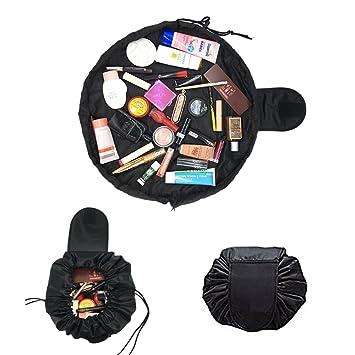 1a26999c7fb4 Lazy Makeup Bag Black Drawstring Cosmetic Bag Large Capacity For Women  Toiletry Bag Multifunction...
