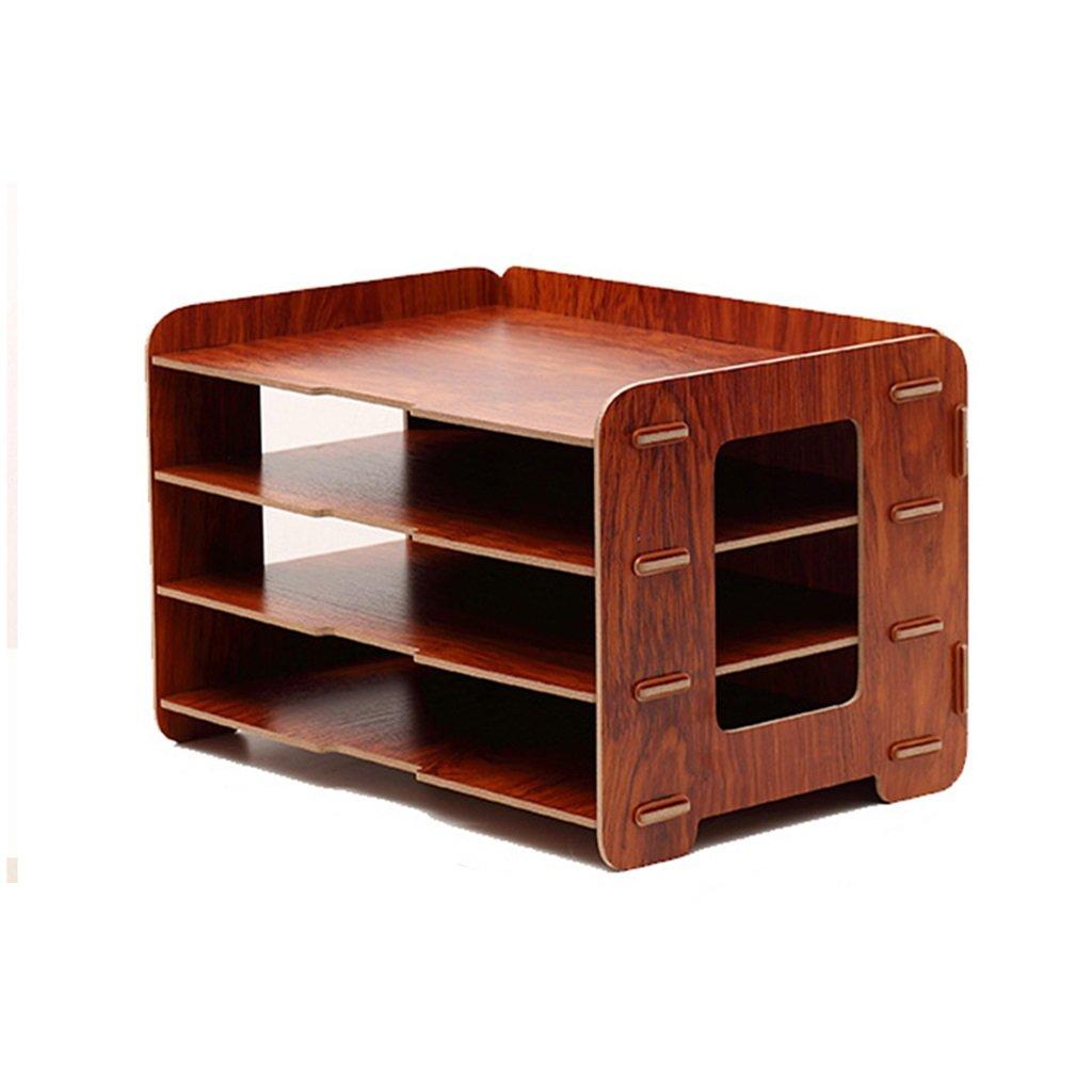 Rack/A3 file holder/printer shelf/desktop office supplies/wooden a4 file storage information
