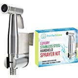 Purrfectzone Bidet Sprayer for Toilet and Baby Cloth Diaper Sprayer- Easy to Install, Great Hygiene with Less Money Spent (Br