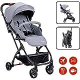 Lightweight Stroller Folding Travel Pushchair with Pull Rod, for Newborn Toddler Baby Boy Girl