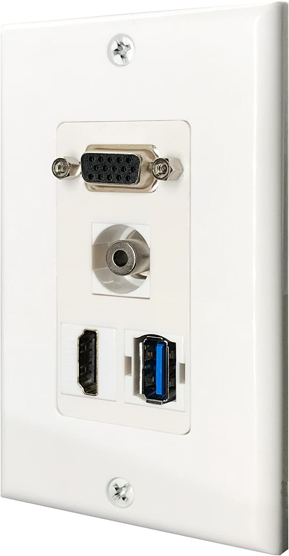 Designer Satin Metal HDMI PORTS V1.4 High Speed Full HD Modern Wall Plate SOCKET