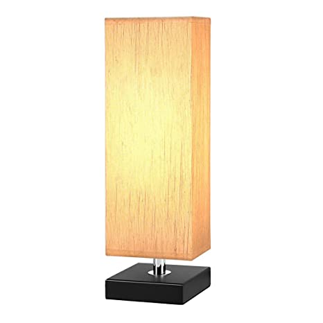 Aooshine bedside table lamp minimalist solid wood table lamp aooshine bedside table lamp minimalist solid wood table lamp bedside desk lamp with square flaxen aloadofball Gallery