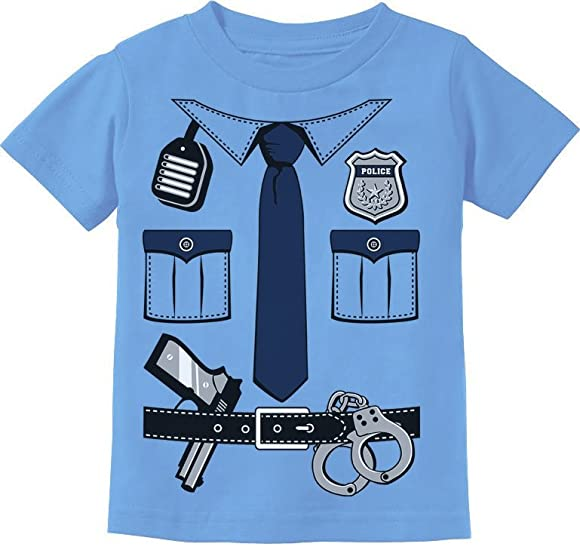 Police Cop Uniform Halloween Costume Policeman Suit Toddler Infant Kids T-Shirt
