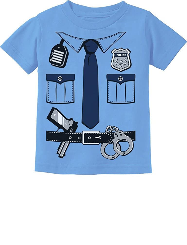 Police Cop Uniform Halloween Costume Policeman Suit Toddler//Infant Kids T-Shirt 4T California Blue