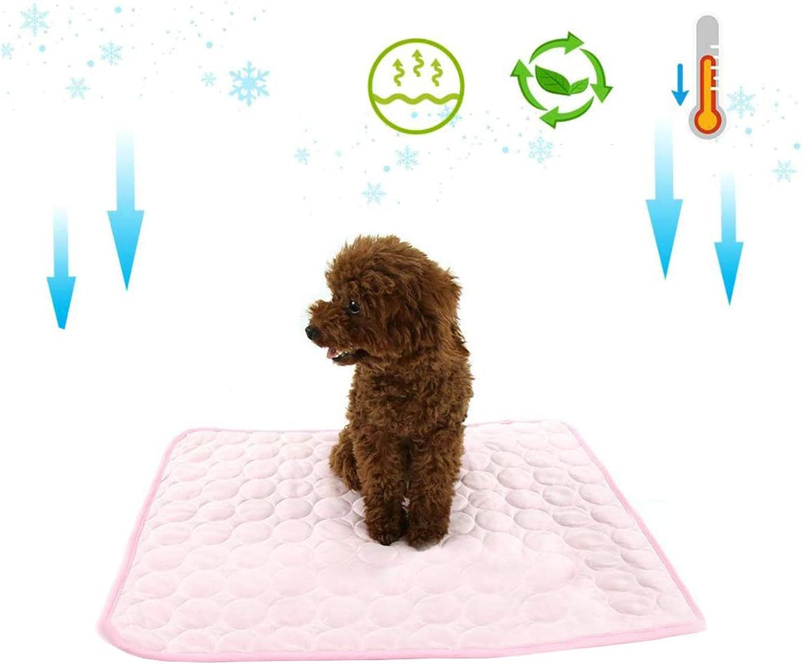 XZKING Dog Cooling Bed Mat, Soft Slipcover Breathable Pet Cooling Mat for Kennel, Dog Cool Bed Liner Blanket for Small Medium Large Dogs