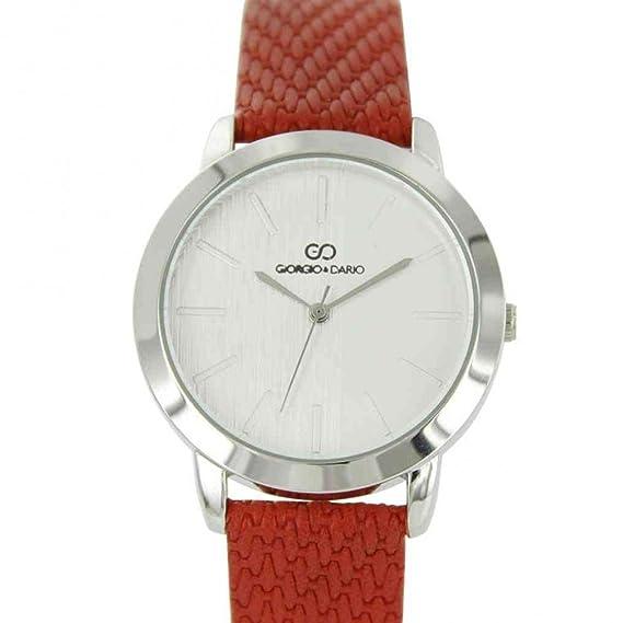 Reloj mujer pas barato rojo Gorgio