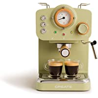 IKOHS THERA Retro, Express-koffiezetapparaat voor espresso en cappuccino, 1100 W, 15 bar, zwenkbaar stoommondstuk…