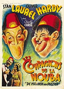 Sons of the Desert Poster Movie French 11 x 17 In - 28cm x 44cm Stan Laurel Oliver Hardy Mae Busch Charley Chase Dorothy Christy