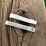 Monogram Tie Clip Personalize Tie Clip Monogram Tie Bar Personalized Monogram Mens Gift Groomsman Tie Clip For Him Personalized Tie Clip