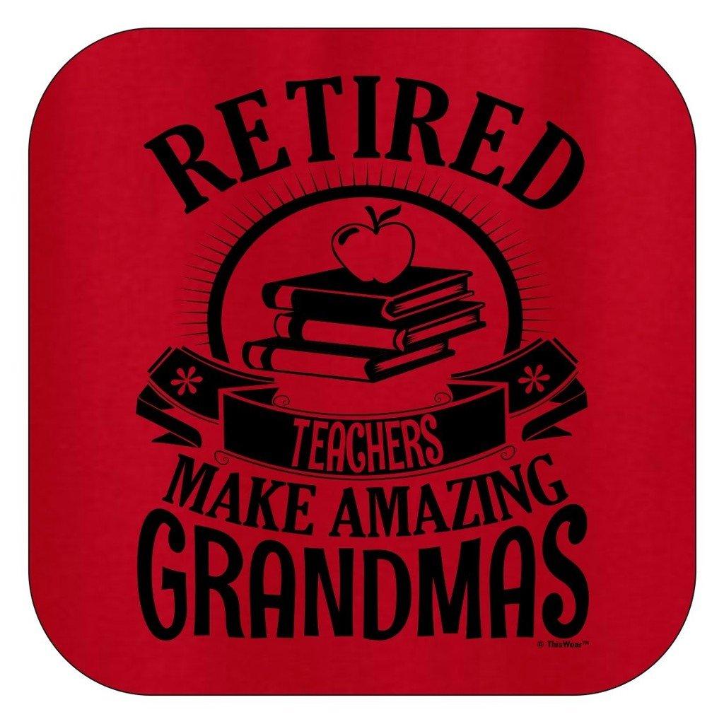 ThisWear Retirement Grandma Gift Retired Teacher Ladies T-Shirt
