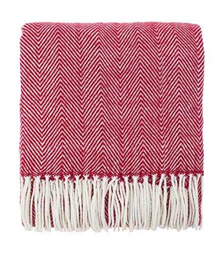 Fringed Fleece Throw - Fennco Styles Herringbone Fringed Cashmere-Like Throw Blanket - 50