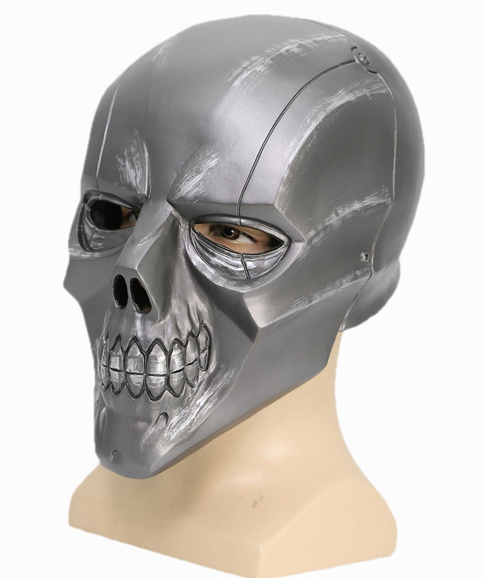 Black Mask Roman Sionis Deluxe PVC Full Face Helmet Cosplay Skull Mask Adult