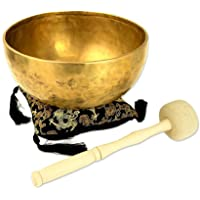 Traditionelle Klangschale aus Nepal, für Entspannung und Meditation als auch Yoga hervorragend geeignet, inklusive einem schwarzem Kissen sowie einem schwarzem Kissen Holz-/Filzklöppel erhältlich-2093-
