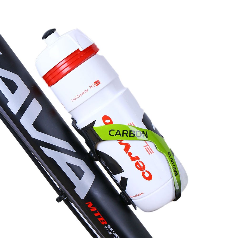 ELITA ONE Fibra de Carbono Ciclismo Portabidones-3K Carbono Bicicleta Portabidones