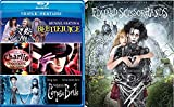 Tim Burton Edward Scissorhands Blu Ray + Beetlejuice / Charlie and the Chocolate Factory / Corpse Bride Johnny Depp Fantasy Action set 4 film favorites