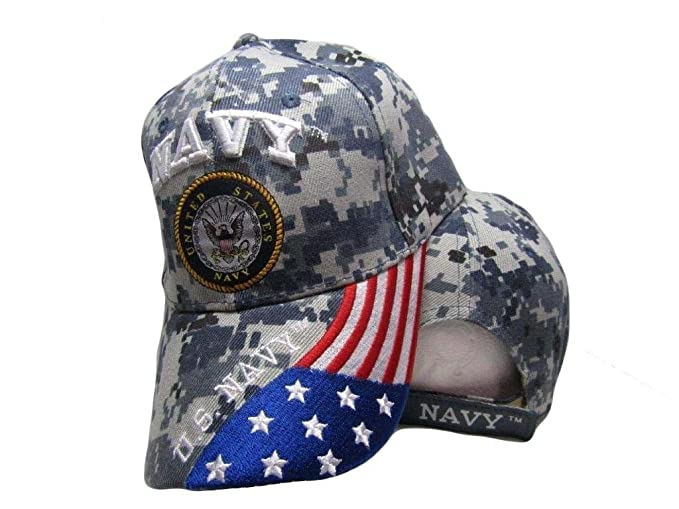AES U.S. Navy USA American Blue ACU Digital Camo Camouflage Embroidered Cap  Hat f9c372860f2