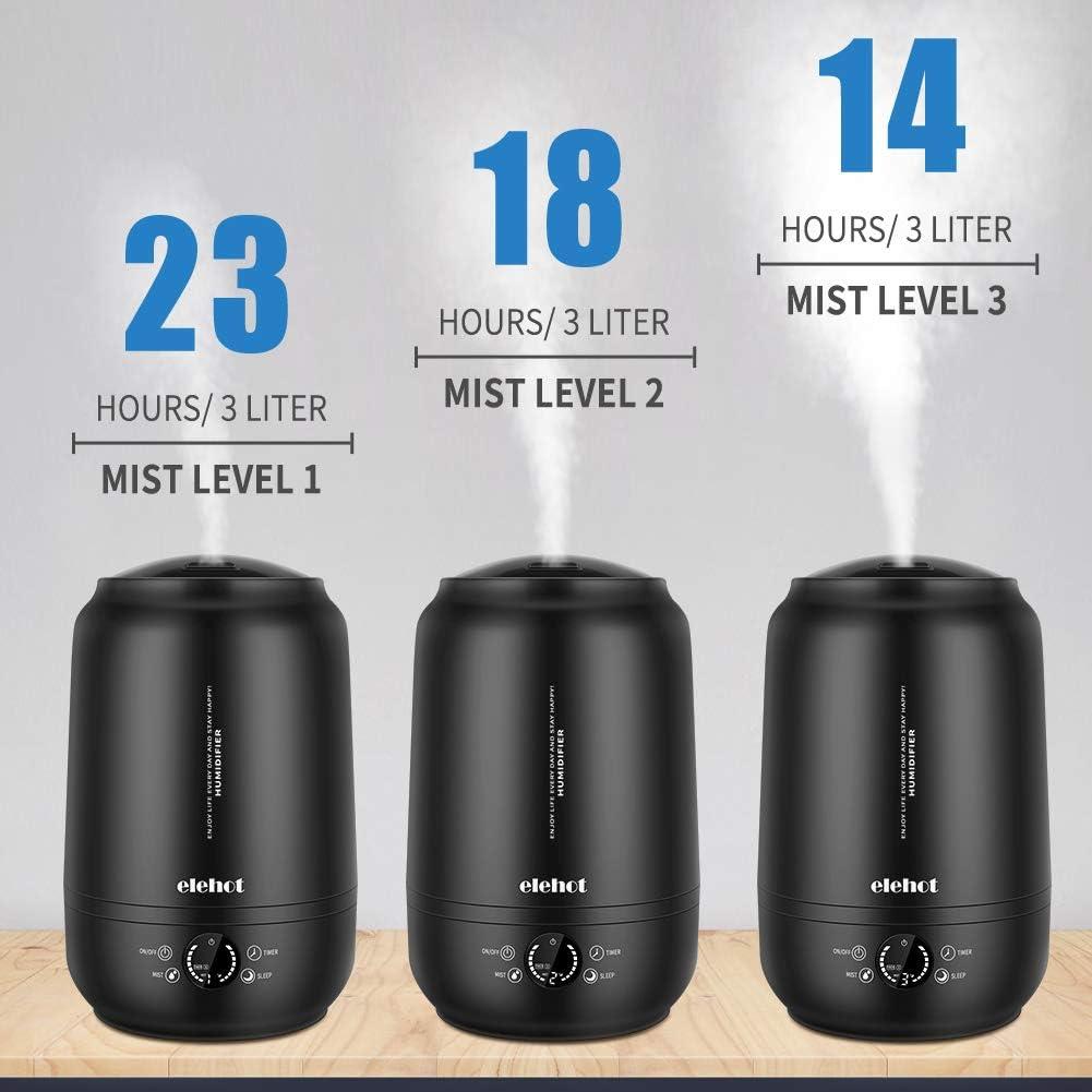 Humidificateur d/'Air Maison Ultrasonique 5L Humidificateur Silencieux avec Filtre Diffuseur dHuiles essentielles pour Maison Bureau B/éb/é Chambre ELEHOT