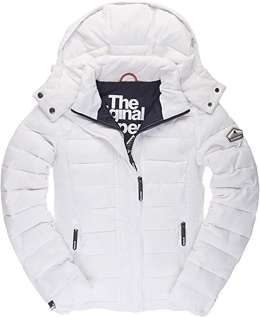 superdry damen jacke fuji slim double zip hood