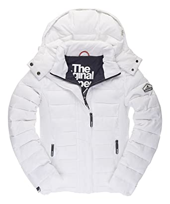 quality design 5182d 68661 Superdry Damen Fuji Slim Double Zip Hood Jacke